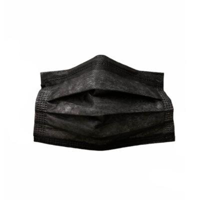 3 Katlı Cerrahi Maske Siyah