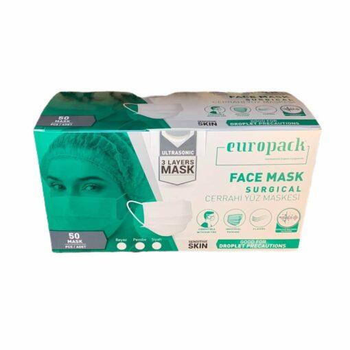 Europack Meltblown Cerrahi Maske Mavi