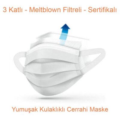 Yumuşak Kulaklıklı Cerrahi Maske
